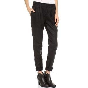 Rag & Bone Aberdeen Black Coated Trousers 25